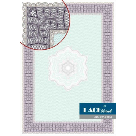 Сertificate paper gray-turquoise with a star, A4, 25 pcs/pack