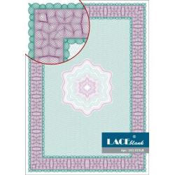 Certificate paper raspberry-green with a star, A4, 25 pcs /pack