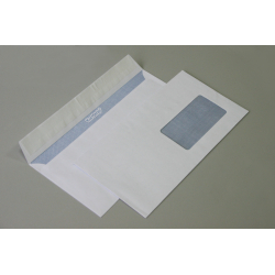 """Envelope E65,  """"Kurtstrip"""" series, a window with a window of 45x90 mm at the bottom right, 1000 pcs / pack"""
