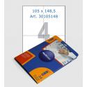 Этикетки белые,  105х148,5 мм, 4 шт/лист