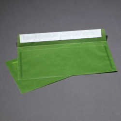 Envelope transparent dark green from tracing paper E65