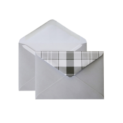 "Envelope with checkered valve C6, ""Blue"""