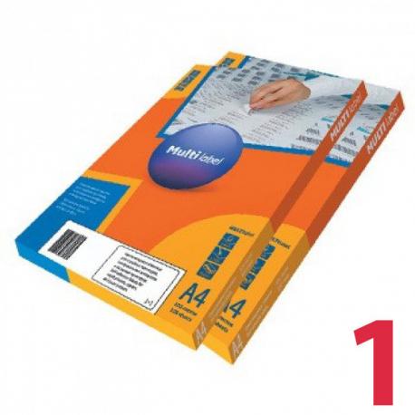 Этикетки удаляемые MULTILABEL, 210х297 мм, 1 шт. на листе А4, 100 шт/уп