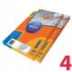 Этикетки удаляемые MULTILABEL, 104х148,5 мм, 4 шт. на листе А4, 100 шт/уп
