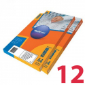 Removable labels MULTILABEL,  63.5х72 mm, 12 pcs on A4 paper, 100 pcs/pack