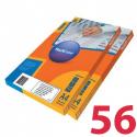 Этикетки удаляемые MULTILABEL, 52,2х21,2 мм , 56 шт. на листе А4, 100 шт/уп