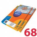 Этикетки удаляемые MULTILABEL, 48,5х16,9 мм , 68 шт. на листе А4, 100 шт/уп