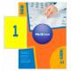 Self-adhesive color labels MultiLabel A4, orange fluoride