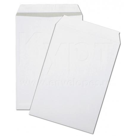 """Пакеты белые С4, 229х324 мм, 100 гр/м2, серия""""Kurtstrip Ultra"""", серая запечатка, защитная лента, 100 шт/уп"""