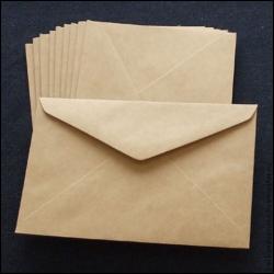 Крафт конверты С6, декстрин, 1000 шт/уп