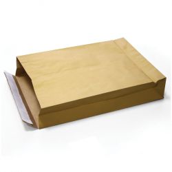 Double Kraft bags 250x380x70 mm, 100 pcs/pack
