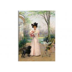 коллекционные открытки - художник Louise Abbema