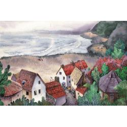 Деревня на берегу моря