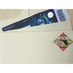 """Винтажный конверт с гашенной почтовой маркой """"Сова"""""""