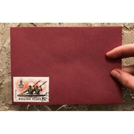 """Vintage envelope with canceled postage stamp """"Owl"""""""
