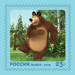 Post envelope with a stamp in Russia