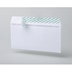 Envelope postal E65 (110x220 mm), white, removable tape