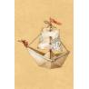 Бумажный кораблик (мини-открытка)