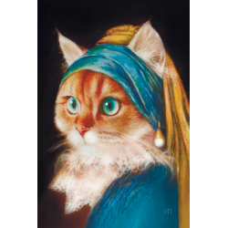 Kitty with a pearl earring