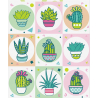 "Stickers ""Cacti"", 11 × 16 cm"