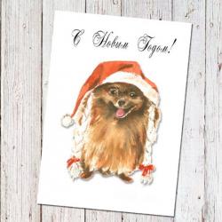 Happy New Year! (mini - postcard)