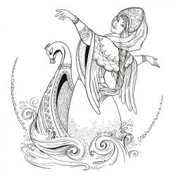 """Набор из 6-ти открыток-раскрасок """"Сказки"""""""
