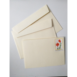 """Envelope C6 with a canceled postage stamp """"Lilies"""""""