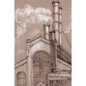 Moscow sketches. Hydropower station