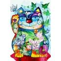 The flower's cat