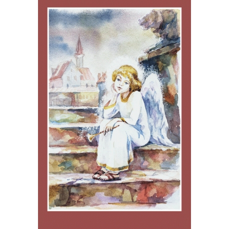 Angel on the steps