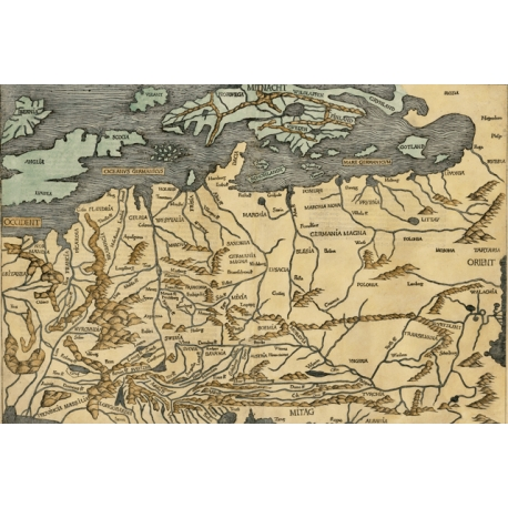 Central & Northern Europe, Map Maker: Hartmann Schedel, 1493.