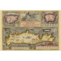 Decorative example of Ortelius' maps of Corsica, Sardinia, Crete and the Ionian Sea, Map Maker: Abraham Ortelius, 1609.