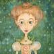 Girl-leaf