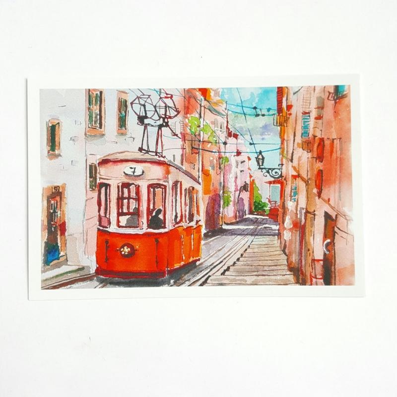 Риги открытках, открытки с трамваями