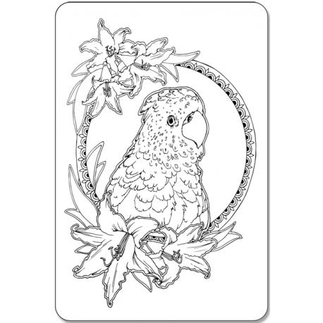 Попугай и лилии