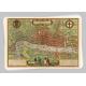 Средневековые карты - 18 почтовых открыток