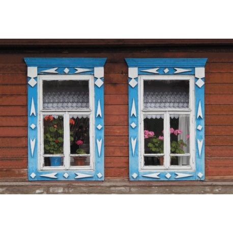 Country home windows. Two windows