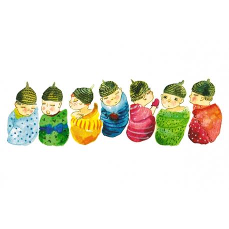 Seven little babies