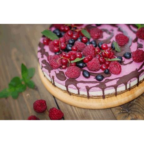 Raw Raspberries Cashew Cake