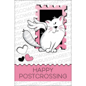 The cat with a stamp. Happy postcrossing