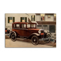 Ford four-door Sedan 1930 - artwork by James Williamson