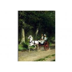 На лесной дороге - художник Otto Eerelman
