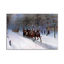 Зимняя прогулка - художник Otto Eerelman