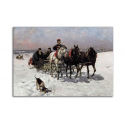 На охоту - художник Alfred Wierusz-Kowalski
