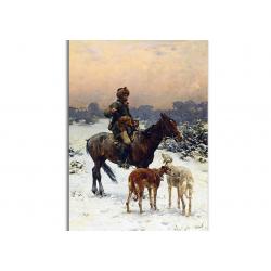 На охоте - художник Alfred Wierusz-Kowalski