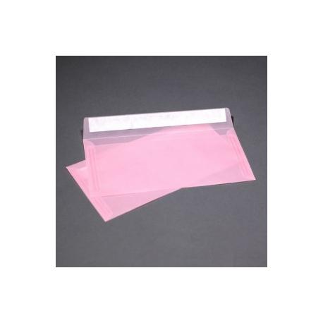 Конверт прозрачно-розовый из кальки E65