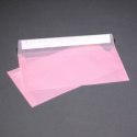 Envelope transparent pink from tracing paper E65