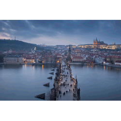Prague. Charles Bridge at sunset